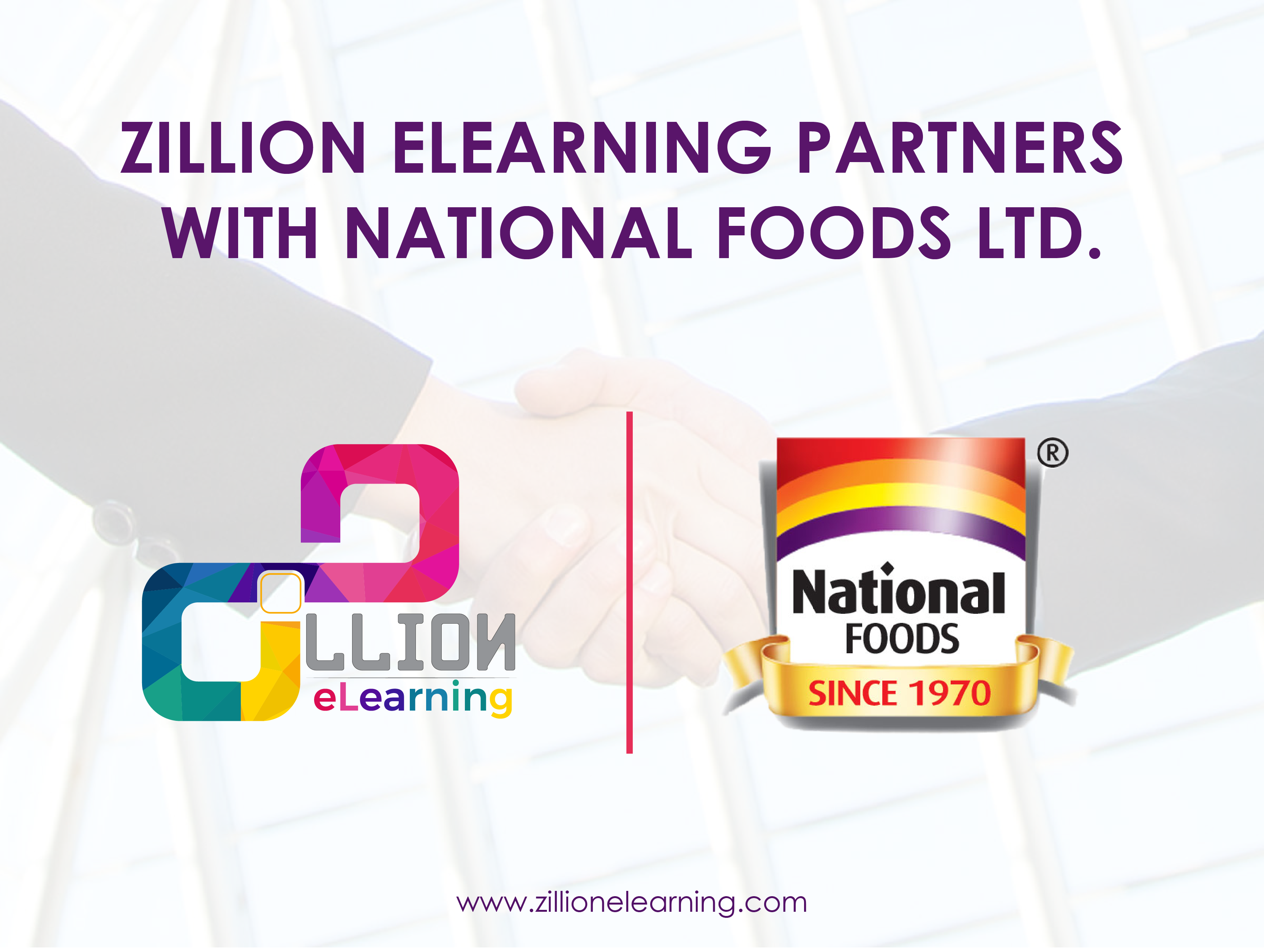 Zillion eLearning and National Foods ltd. Announces Strategic Partnership
